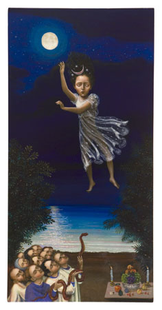 Bring Down the Magic, 2011 acrylic on panel 24 x 12 inches