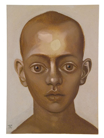 Brown Boy, 2011 acrylic on panel 7 x 5 inches