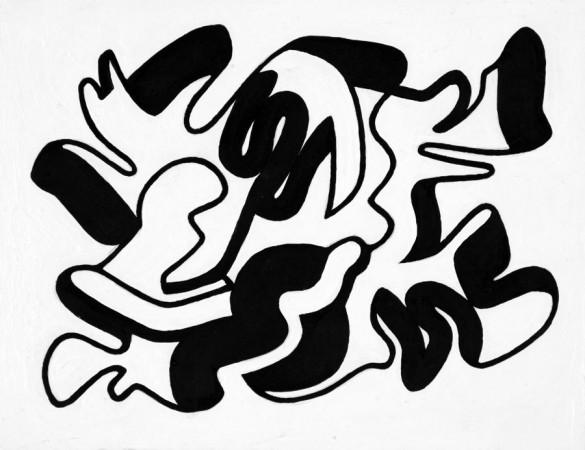 Howard Buchwald (shuffle) 2008 acrylic on panel 6 x 7 inches
