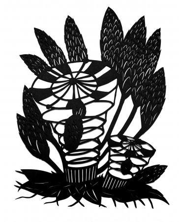 Katerina Lanfranco, Black Botanical #37, 2008 paper cut-out 14 x 11 inches