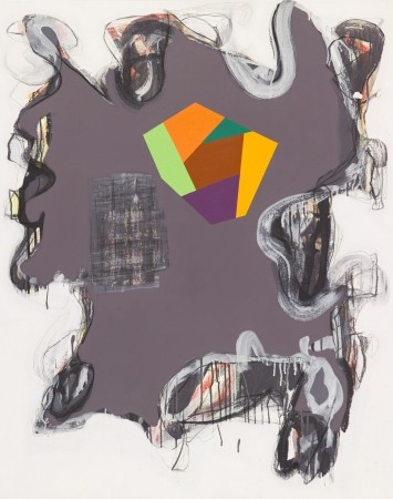 I Don't Give a Damn/ Every Moment Counts #1, 2010 mixed media on canvas 48 x 38 inches