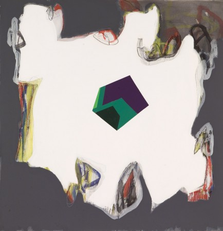 Untitled, 2009 mixed media on canvas 54 x 52 inches