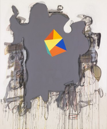 The Dim View: Ricebirds, 2008 mixed media on canvas 80 x 60 inches