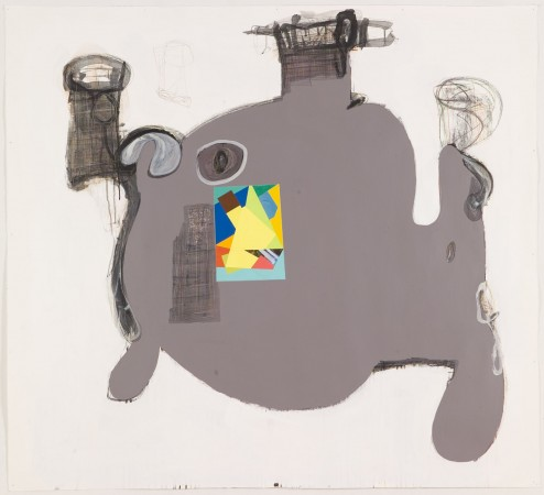 Untitled #5, 2007 mixed media on paper 48 x 52 inches