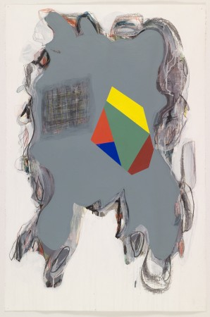 Untitled #3, 2010 mixed media on paper 40 x 26 inches