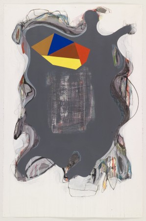 Untitled #5, 2010 mixed media on paper 40 x 26 inches