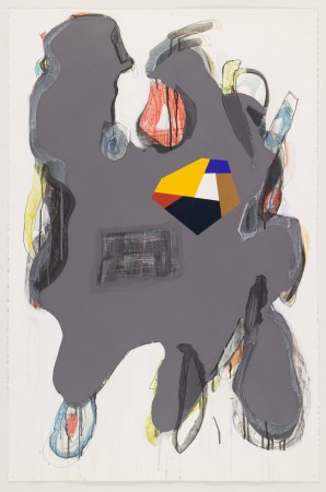 Untitled #7, 2010 mixed media on paper 40 x 26 inches