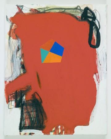 Test canvas #8, 2010 acrylic on canvas 14 x 11 inches