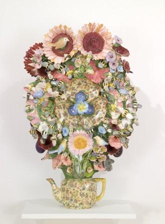 Bee Mandala, 2010 ceramic 29 x 19 x 11 inches