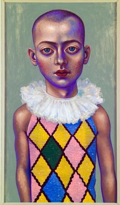 Harlequin Study, 2008 acrylic on panel 36.5 × 21.25 inches