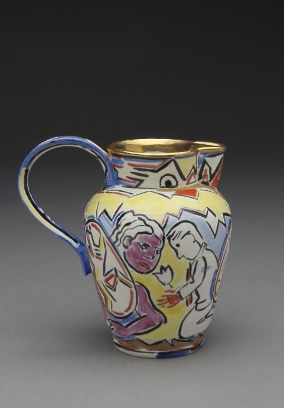 Untitled (Small Pitcher) A La Manufacture de Sevres Series, 1988 ceramic 5 × 5 × 3.5 inches