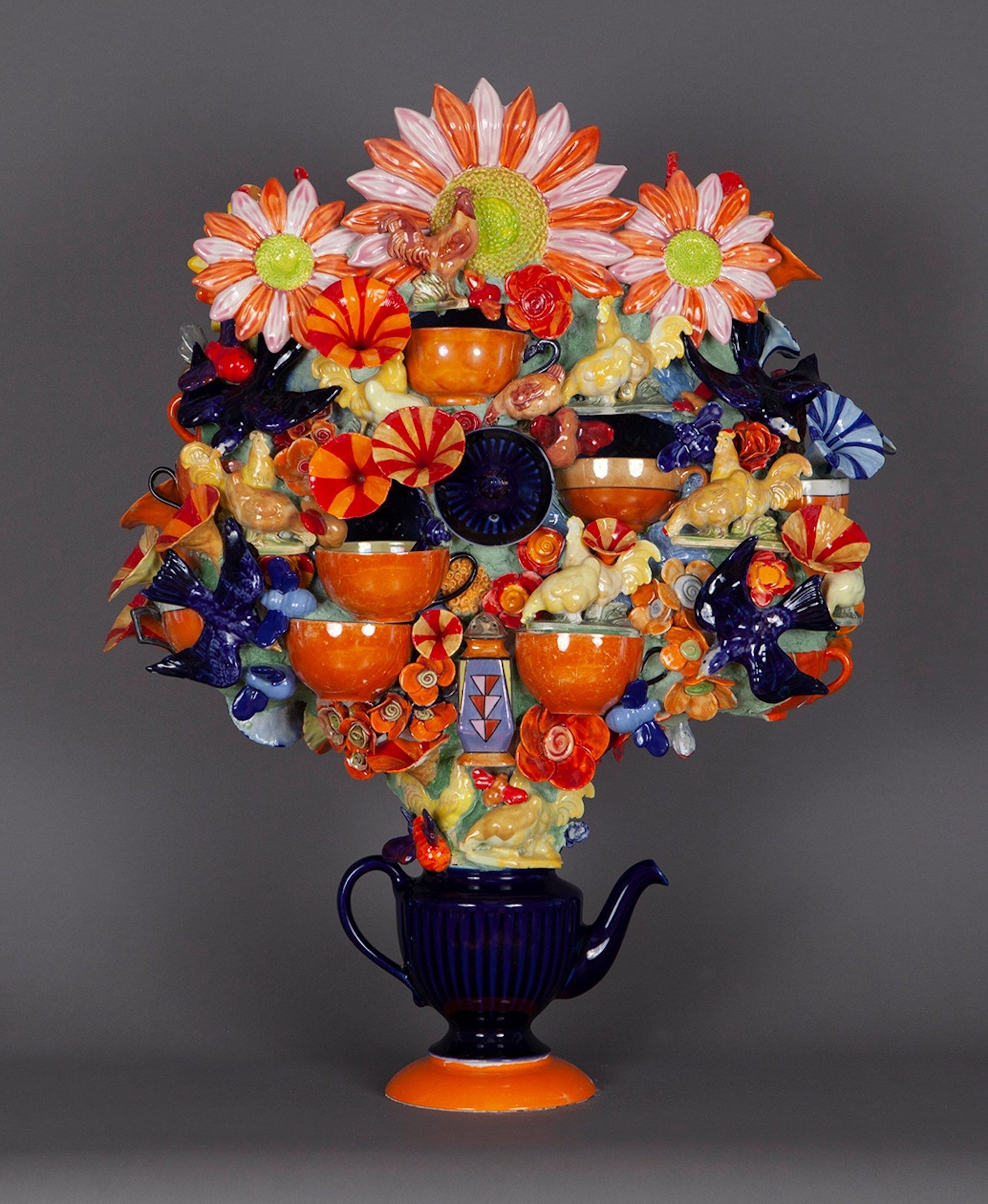 Joan Bankemper, Violet, 2019 ceramic 28 x 22 x 13 inches