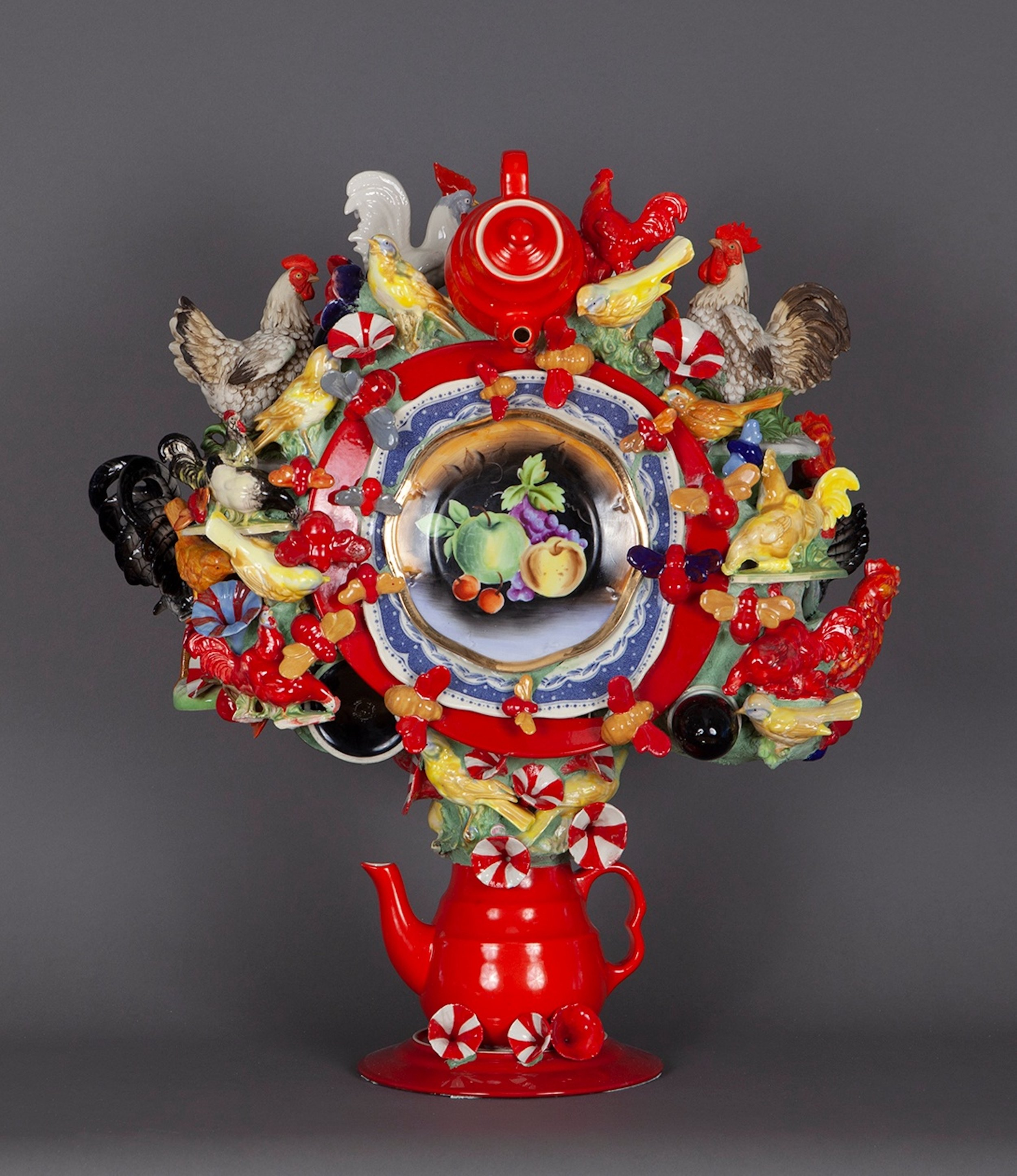 Joan Bankemper, Red Delicious, 2019 ceramic 25 x 22 x 12 inches