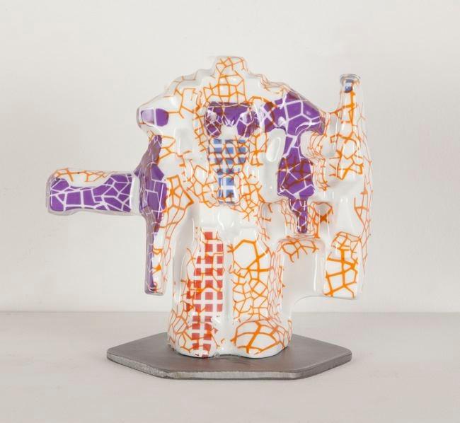 Jesse Small, TRAINEMPRISE #2, 2013 ceramic 6 x 6 x 4 inches