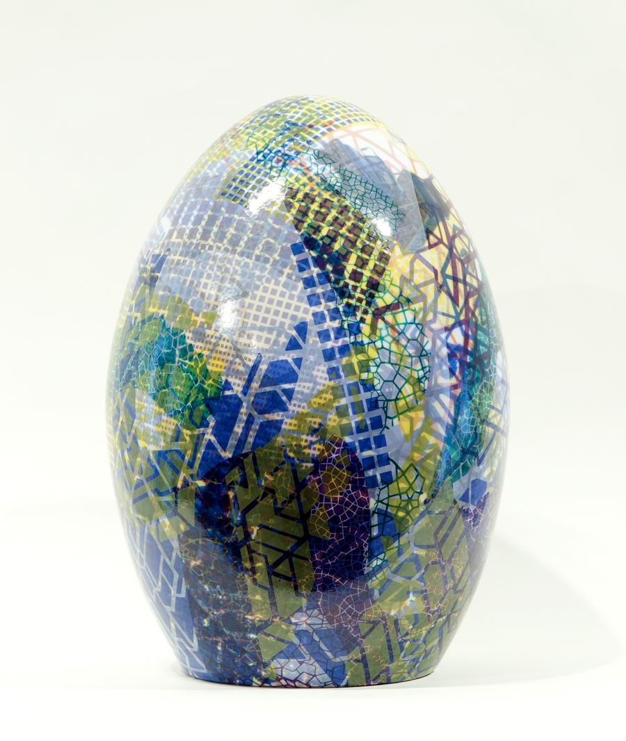 Jesse Small, Large Egg, 2014, ceramic 16 x 11 x 11 inches