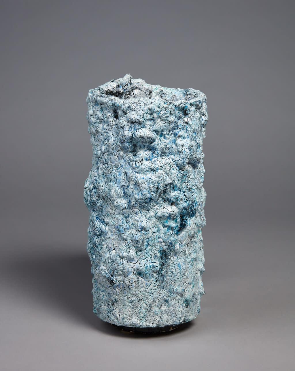 Tony Marsh, Cauldron #24, 2018 multiple fired clay, glaze 15 x 9 inches