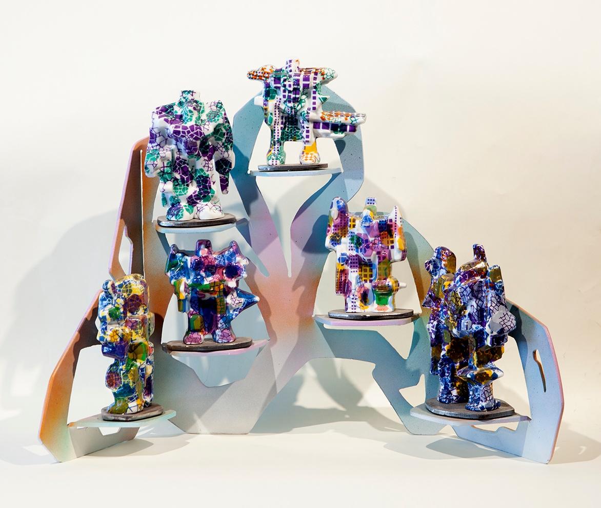 Jesse Small, Small Robot Shelf 2015 various sizes