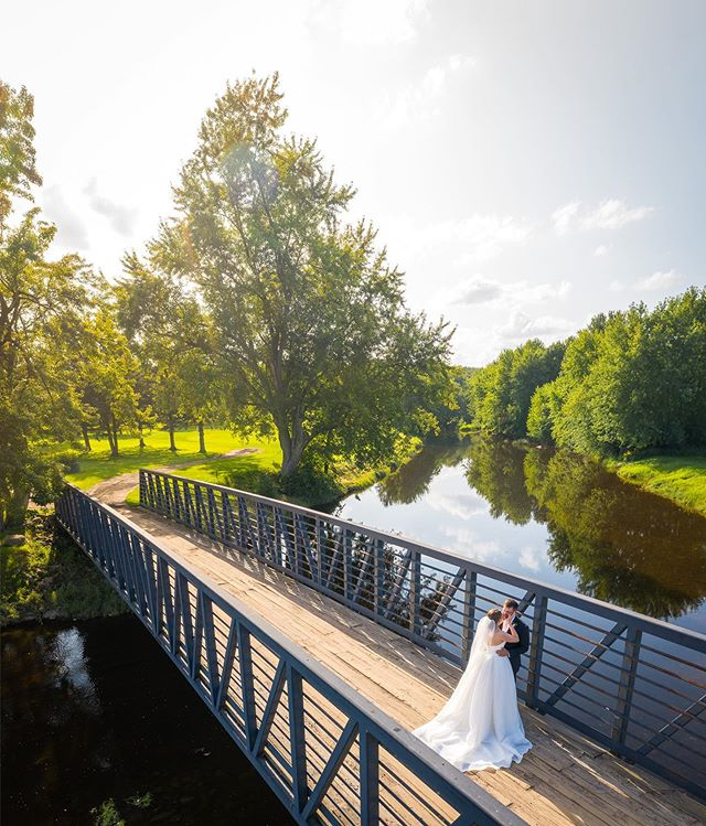 Perfect summer day for a wedding. Congrats Tanya & Kevin! . . #wisconsinbride #wisconsinphotographer  #weddingphotography  #golfcourse #havedronewilltravel #dronephotography
