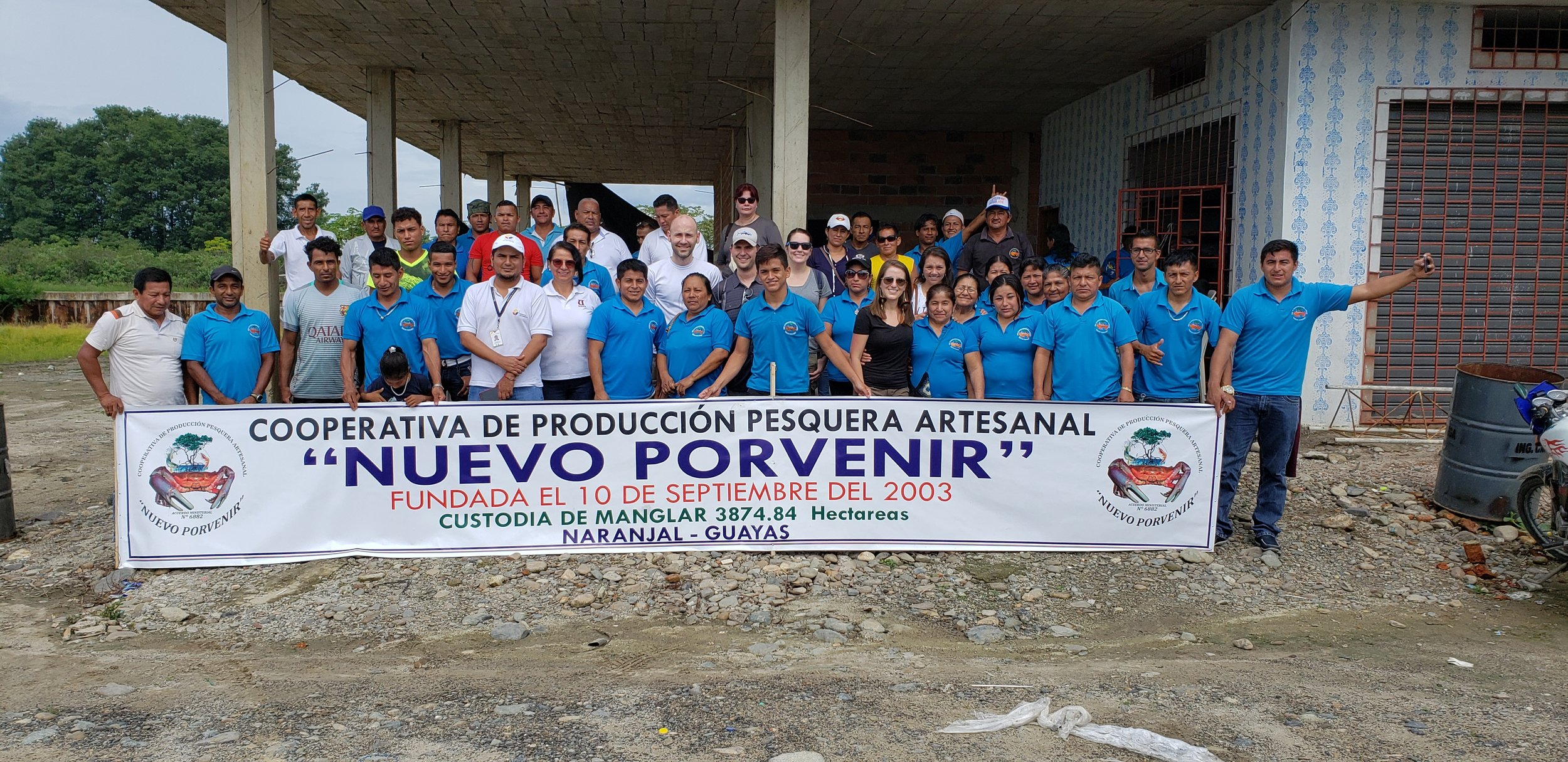 The Nuevo Porvenir Association is part of Ecuador's mangrove concession program, Socio Manglar, which grants the community exclusive rights to use nearby mangrove areas for fishing, tourism or other livelihood needs.