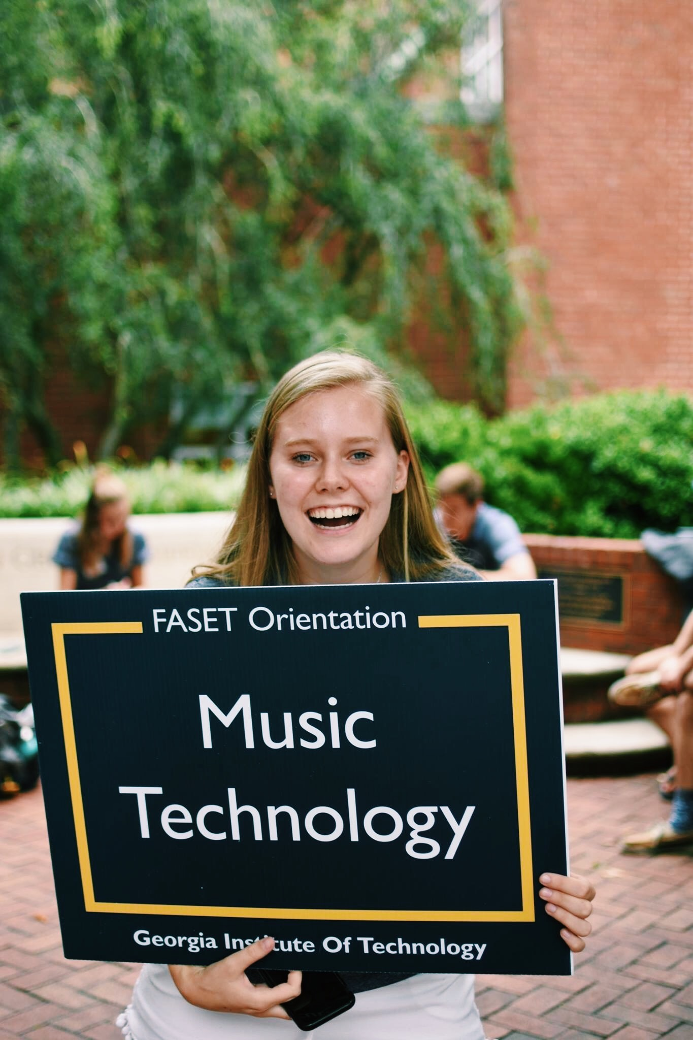 "Carson Myers  ""One of my favorite things about Georgia Tech is the diverse campus community that is filled with passionate and unique people. Through my involvement on campus, I've met inspiring students who have helped mold me into who I am today. I have loved welcoming new students as a FASET leader, GT 1000 Team Leader, and Summer Sessions intern in the Office of Undergraduate Education. Being around excited incoming students always reminds me of how lucky I am to be at Georgia Tech! I also serve as Georgia Tech Student Ambassador and have cherished the opportunity to give back to the alumni, faculty, and staff that make GT such a special place. In addition to these involvements, I have to shout out to the School of Music! I have enjoyed exploring the field of music technology with the numerous creators in the Couch building. Being in the Women in Music Technology group has connected me with some of the female pioneers in the field and as a School of Music Ambassador, I've gotten to share this excitement with potential incoming students. This past year, I have been doing research in the GT Brain Music Lab and discovered this passion for research I didn't even know I had. I have also loved the ability to relax and unwind in Chamber Choir and Jazz Combo. I have found that the more time I devote to different groups within the GT community, the more fulfilled I feel at Georgia Tech! I am so grateful for my time here already and can't wait to see what's in store for my next two years."""