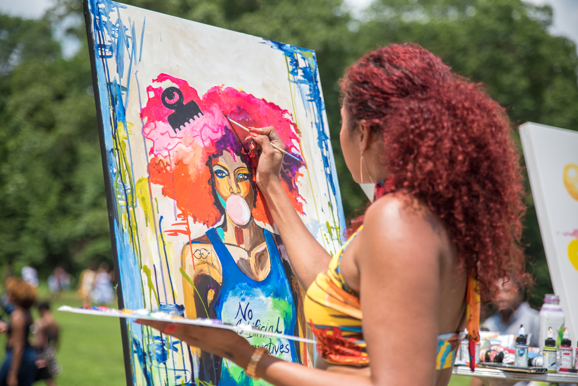 Arts District - Watch paintings come to life, and win one via silent auction!