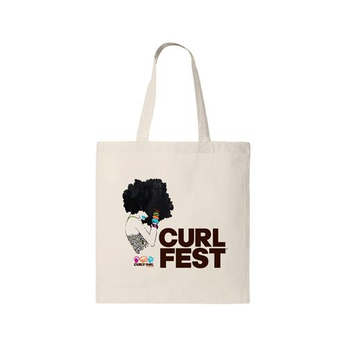 CURLFEST Afro Girl Tote $20