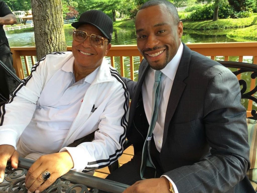 Louis Farrakhan and Marc Lamont Hill, 2016 Instagram