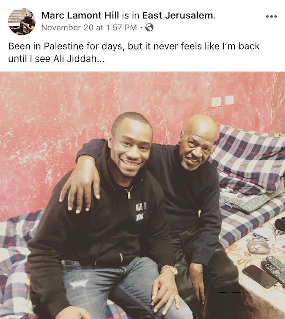 Convicted terrorist Ali Jiddah and Marc Lamont Hill, Facebook 2018