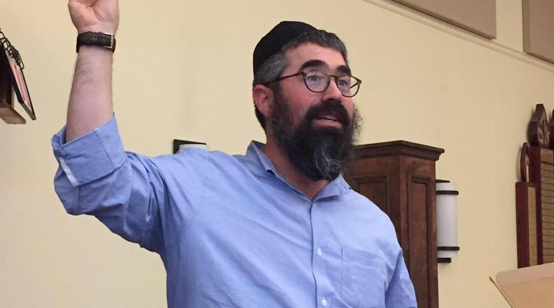 Rabbi Nechemia Schusterman was accosted by pickup truck drivers who yelled at him. (Facebook)