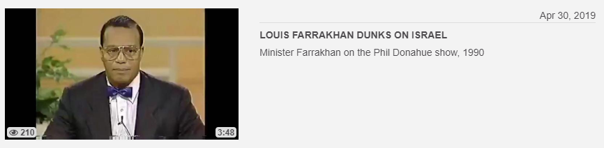 Louis Farrakhan video posted by channel