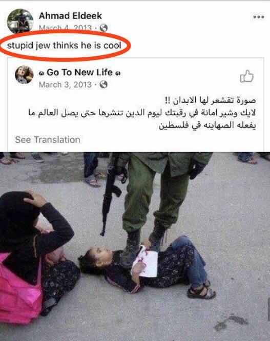 """""""Estúpido judío, piensa que es genial"""": publicación de Daraldik"""