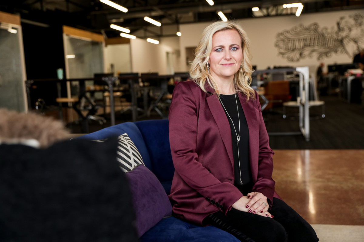 Cydni Tetro, CEO and founder of ForgeDX, poses for photos at the company's office in Salt Lake City on Friday, Jan. 18, 2019.