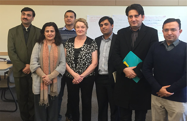 Carla with State Department sponsored visitors from Pakistan