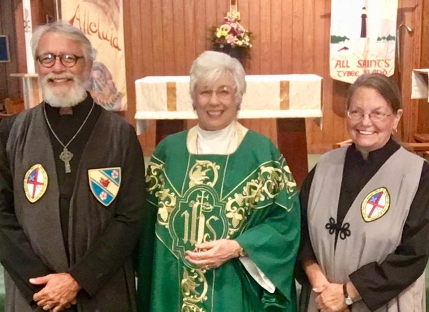Priest & Vergers - Art Worden, The Reverend June Johnson & Katherine Garlington