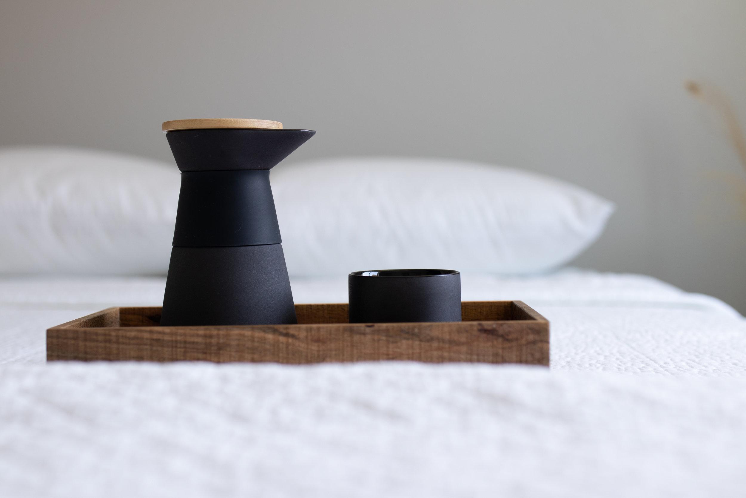Stelton Coffee in Minimalist Bedroom