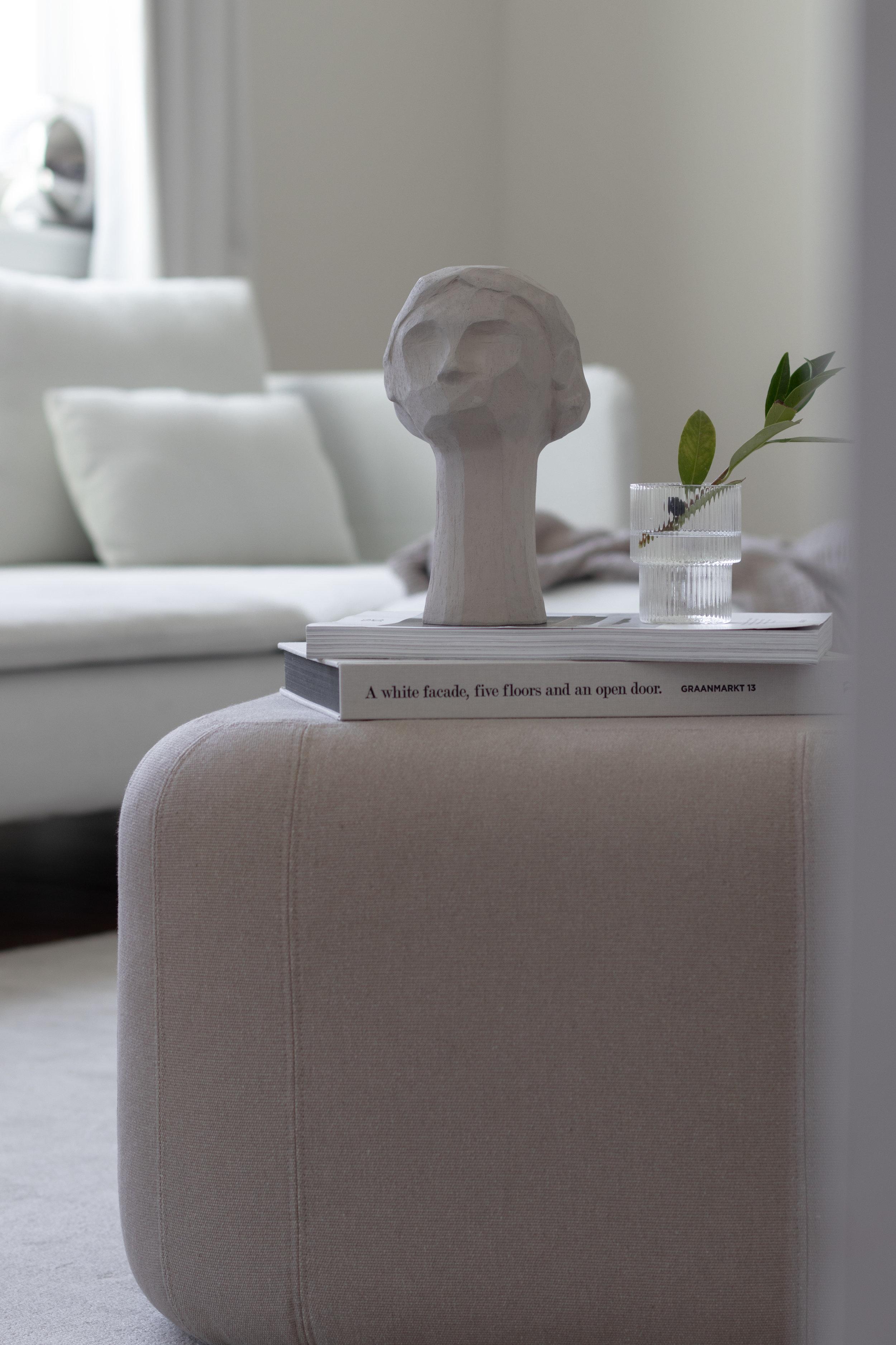 Kristiina x Catcooe collaboration sculptures in a minimal settin