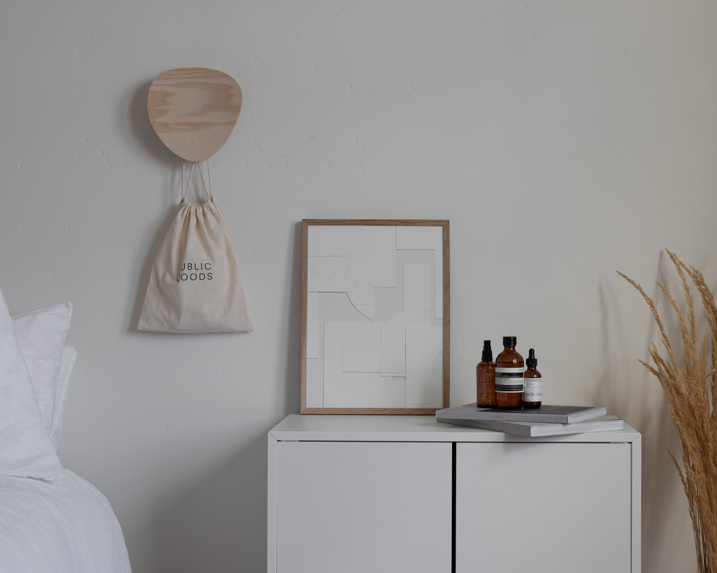 Kovac wall hooks in a nordic bedroom space