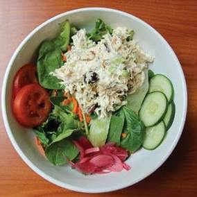 Chicken Salad on Greens