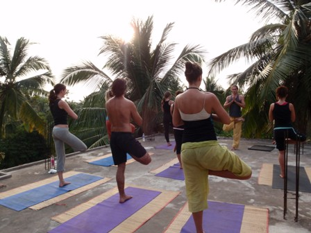 Morning Rooftop Yoga - Shri Kali Ashram