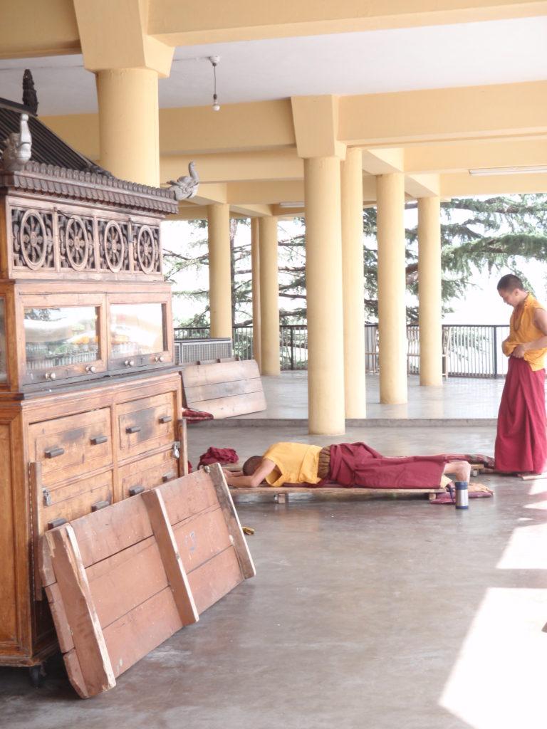 Morning Prayers - Dalai Lama Temple, Dharamasala