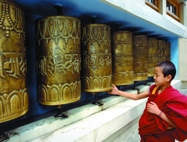 Prayer Wheels - Dalai Lama Temple, Dharamasala