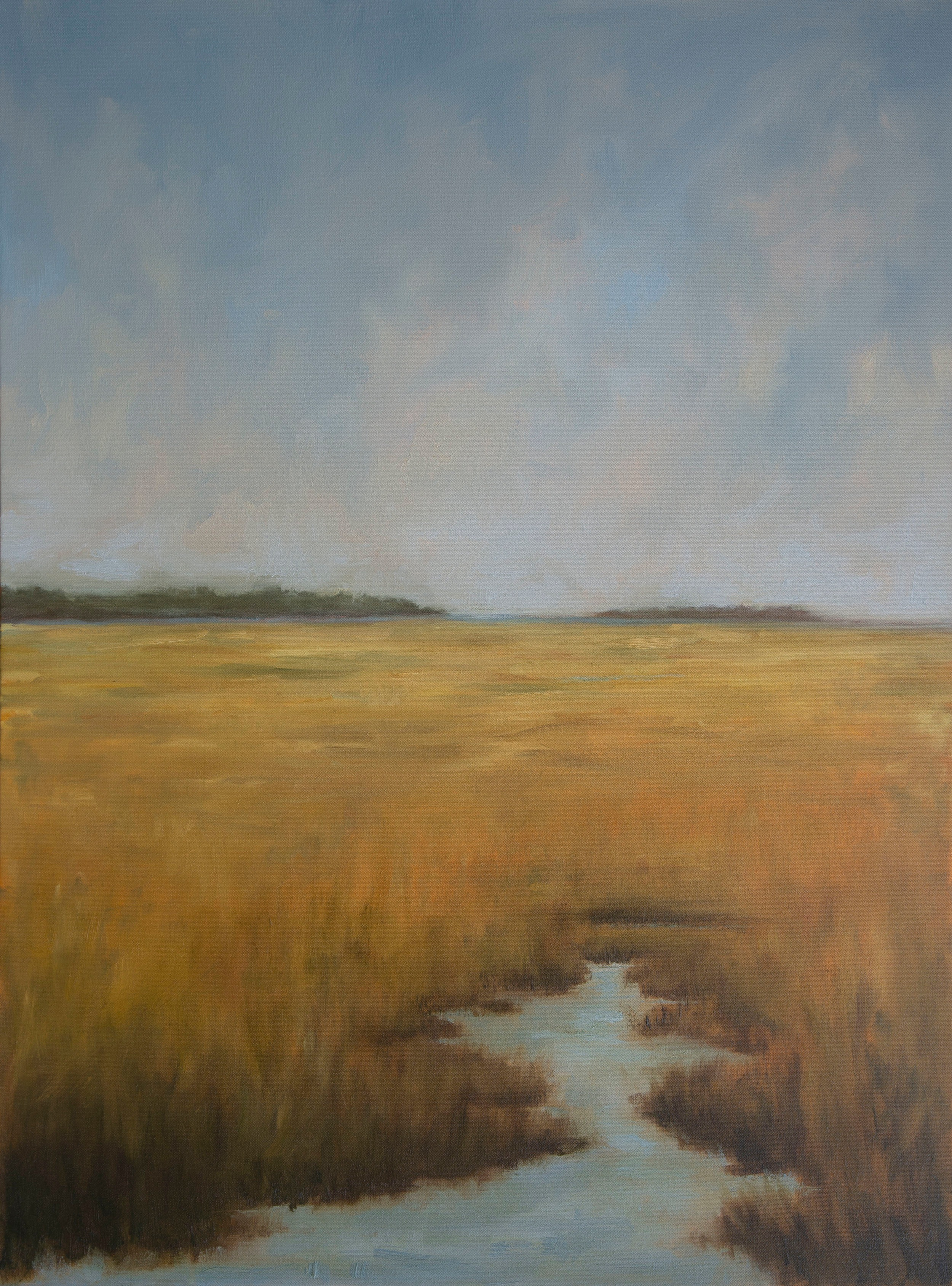 Golden Marsh 30x40 inches oil on canvas