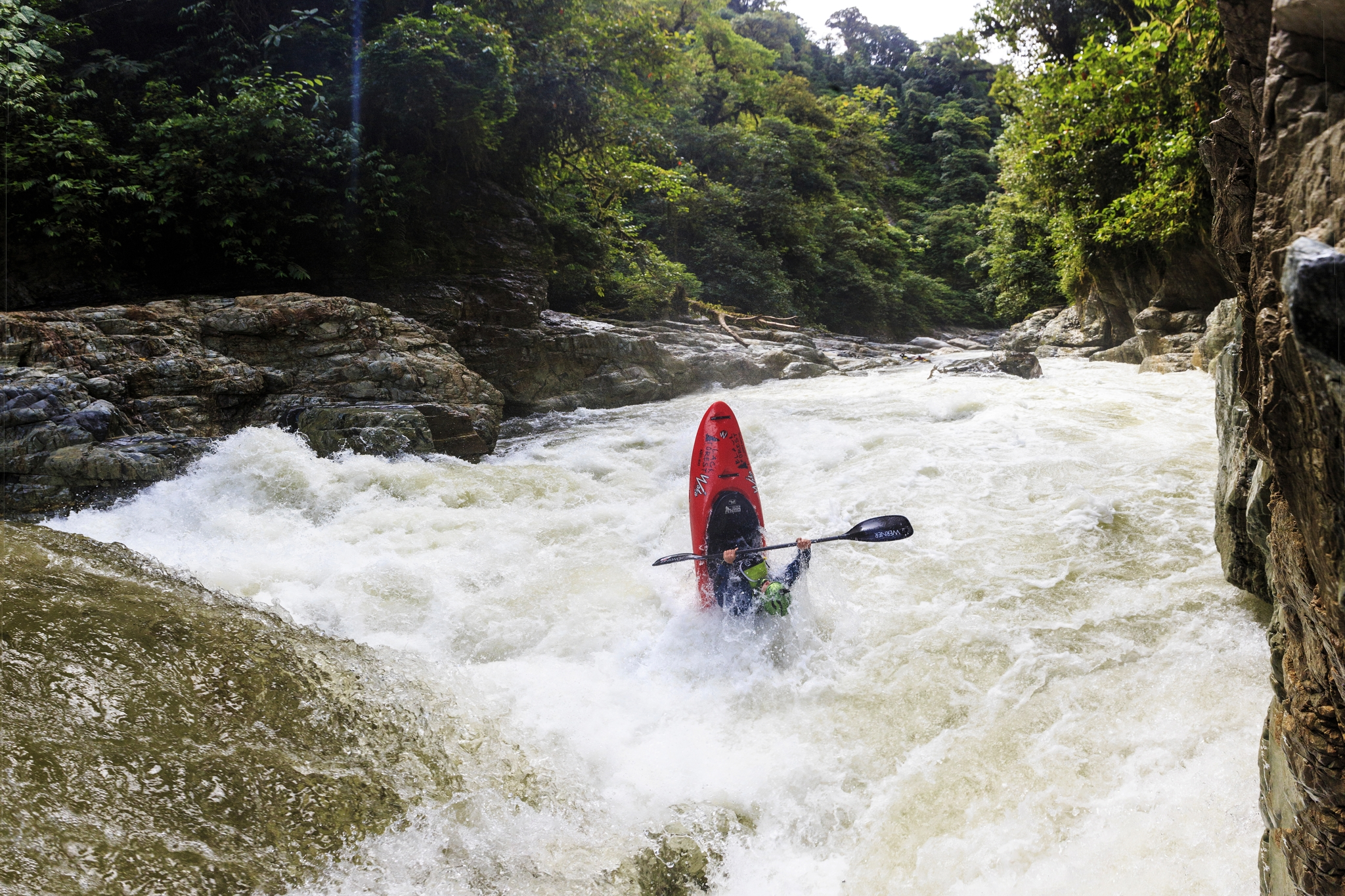 Marcus Bottler in the Rio Cofanes High water.