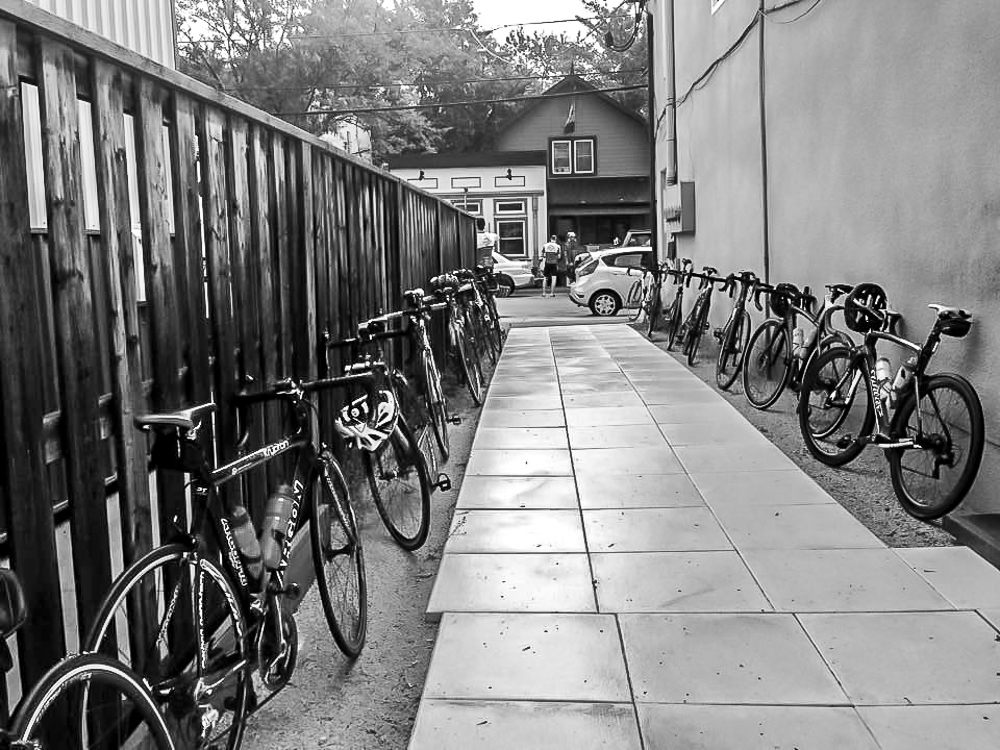 Cyclists welcome at grackle coffee