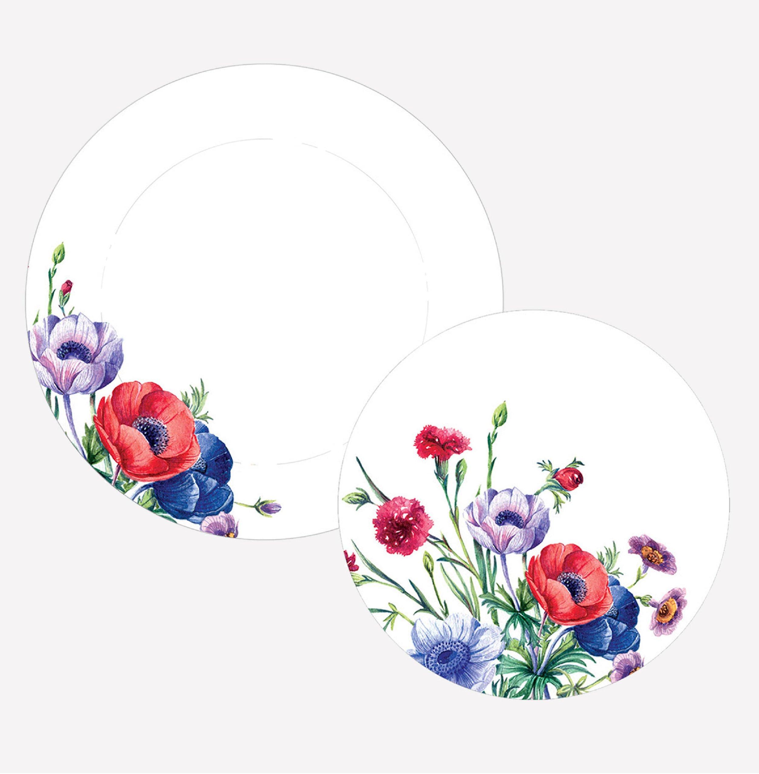 'Floribunda' - Dinner plate & side plate