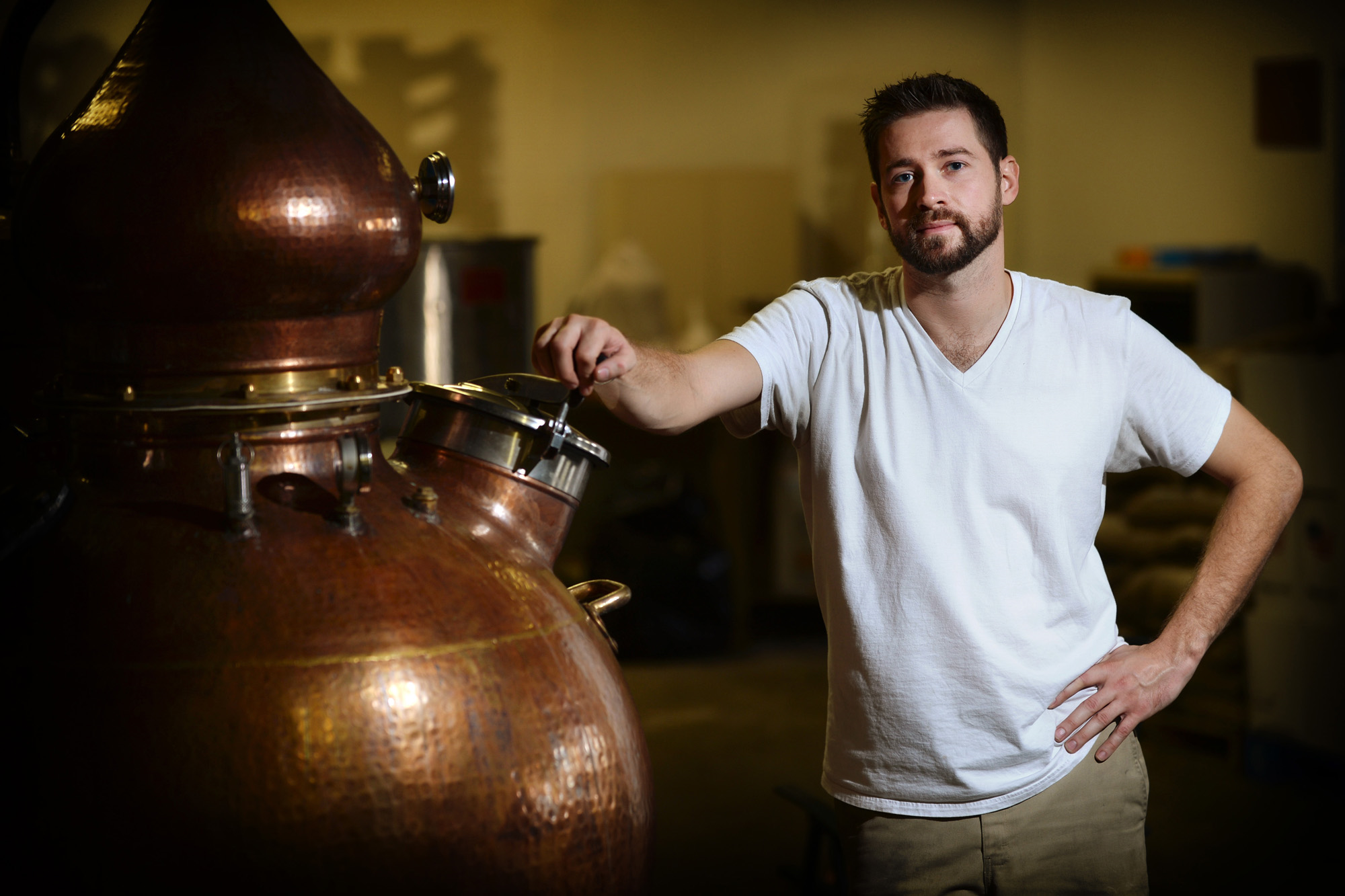 Maggie's Farm Rum founder and head distiller Timothy Russell.