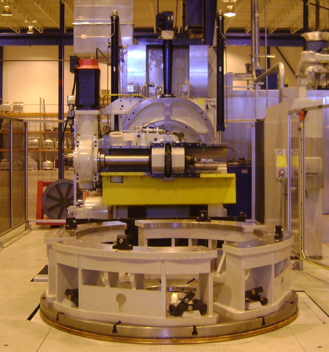Segmented Fixture on a Large Gear Gashing Machine for Pitch and Yaw Bearings