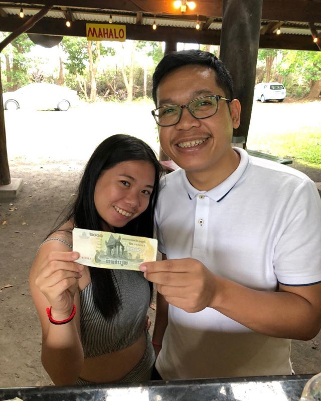 Our first Cambodian dollars! Add to Our world money collection in the shell at theFruitStand🤙🏽