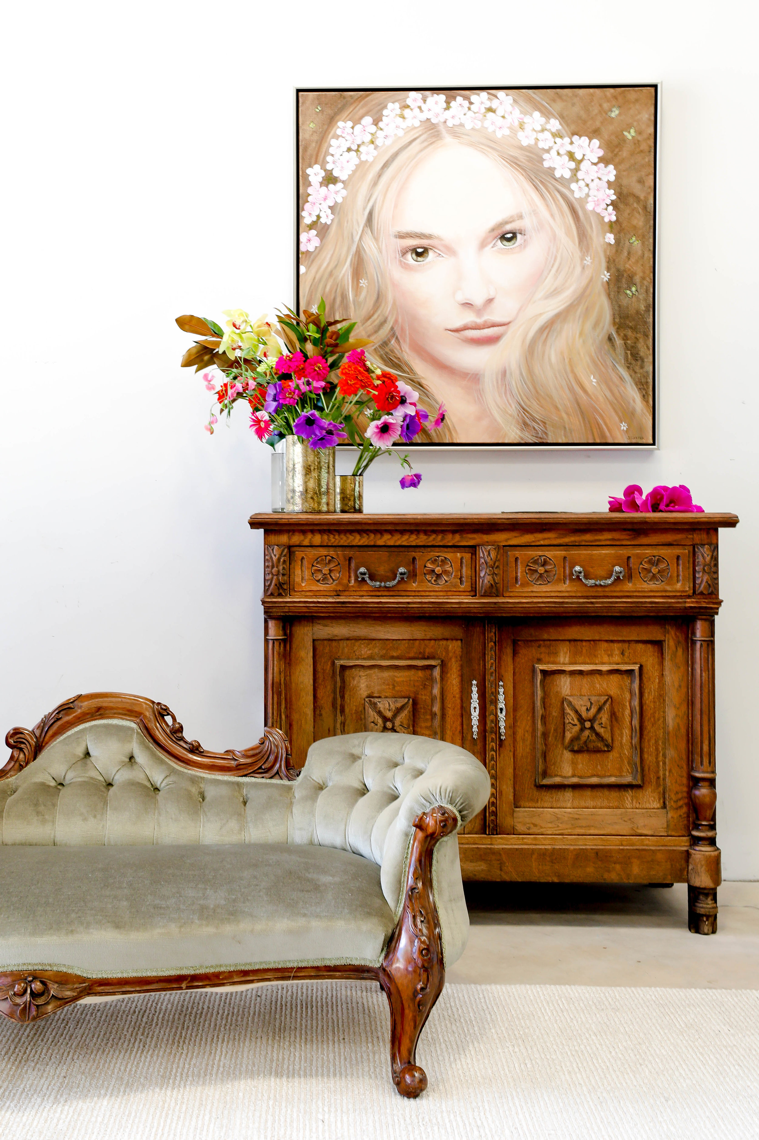 The_Find_Antiques_Chaise_Lounge_French_Provincial_Buffet_FLORAL_springgoddess_tightshot.jpg