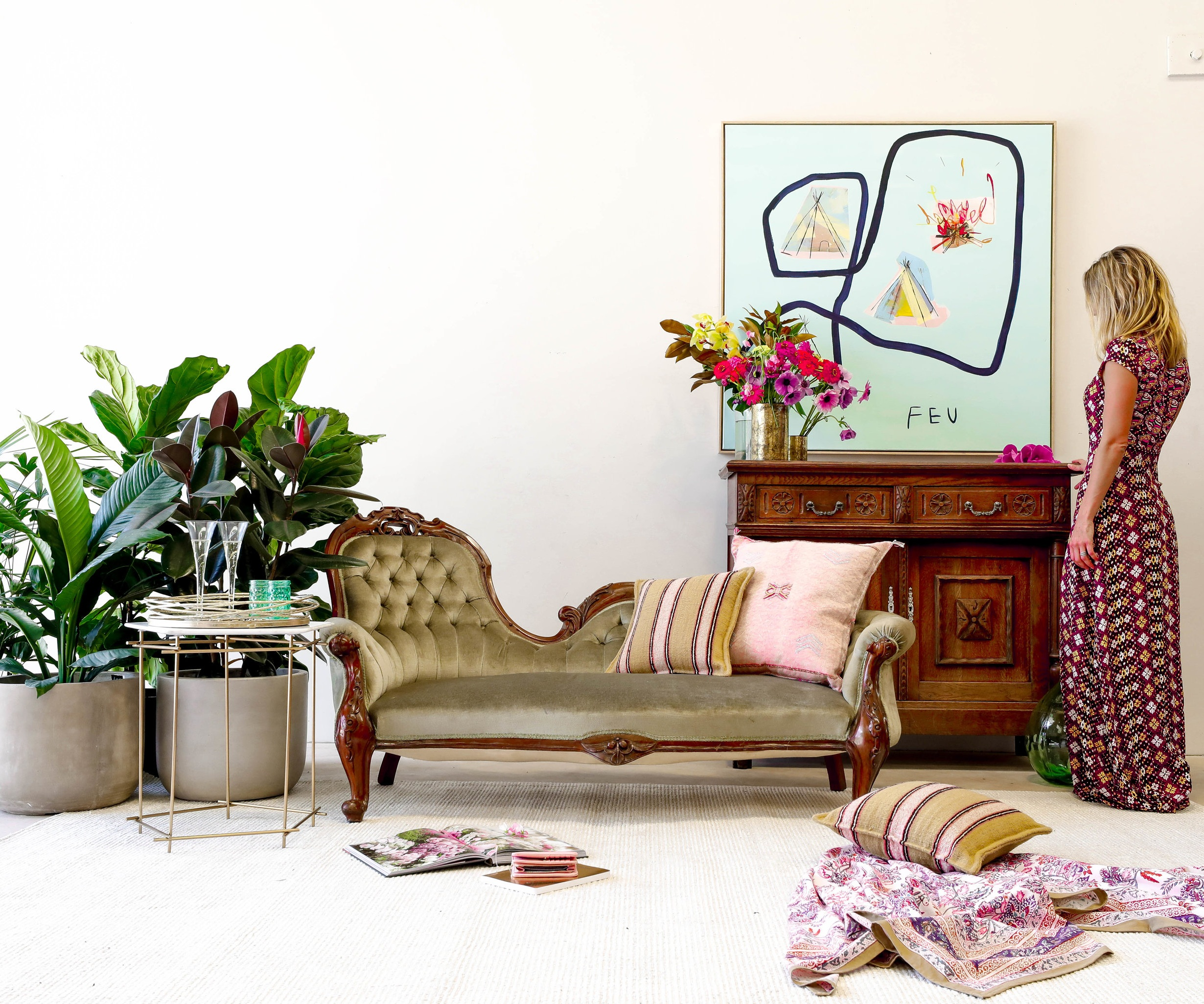 THe_Find_Antiques_FLORAL_Chaise_Lounge_French_Buffet.jpg